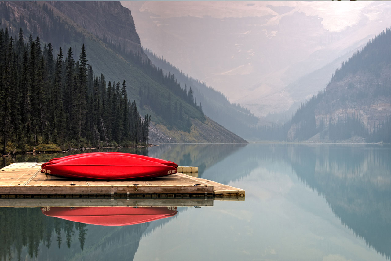 Defunct red boat
